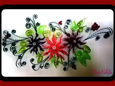 How to Make DIY Quilling Paper Design -  Quilling Tutorial. Art. Flower Design.  Ideas!