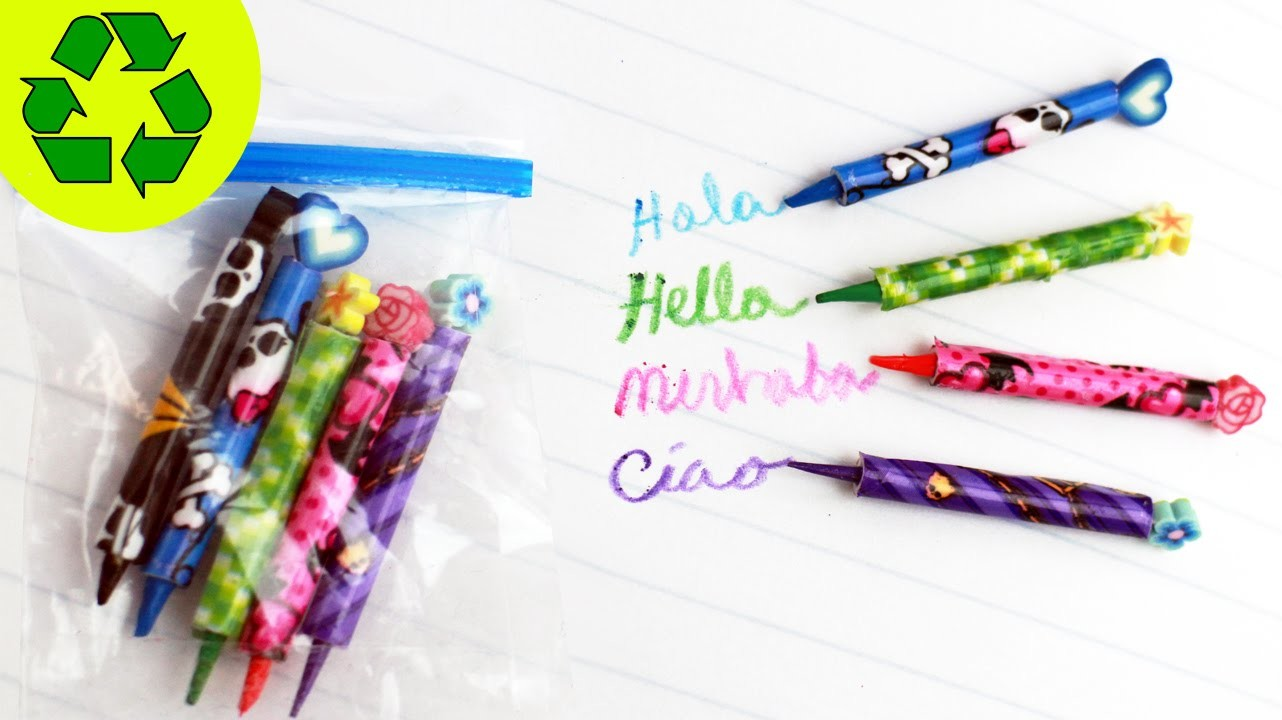 How to Make Miniature Working Color Doll Pencils - simplekidscrafts