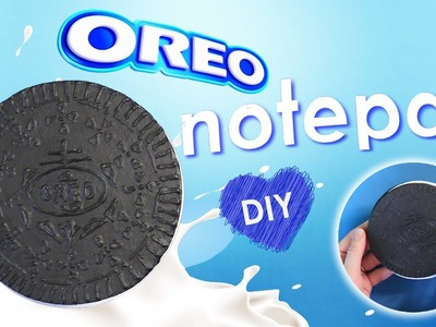 How to make Oreo Notepad - DIY Chocolate sandwich cookies notebook tutorial