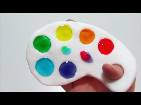 How to make rainbow slime palette clay jelly putty toy diy ccuart Image collections