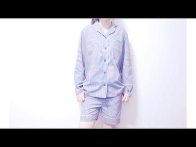 Sewing + DIY Pajama Pants. Shorts #2