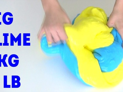 BIG SLIME How to make GIANT SLIME 5000 gram (11 LB) DIY