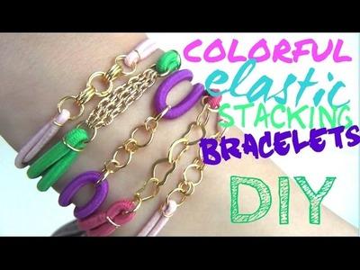 Colorful Elastic Stacking Bracelet ♥ DIY Fashion