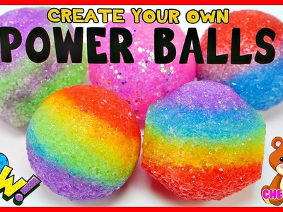 Create Your Own Rainbow Power Balls * Super Crazy Bouncy Balls DIY Craft Videos from Cher Bear Toys