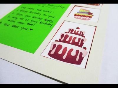 DIY : #133 Bakery Shop Birthday Card ♥