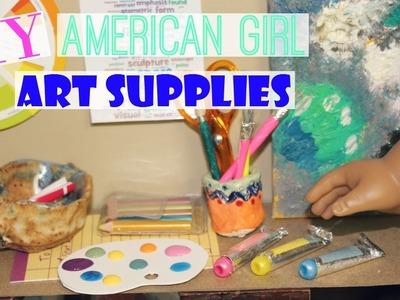 DIY American Girl Doll Art Supplies!