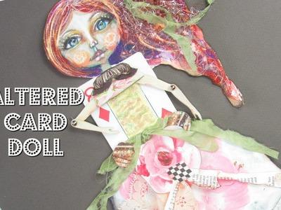 DIY Art Paper Doll Merida | Mixed Media Brave Art - #LoveSummerArt