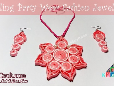 DIY Beautiful Quilling Paper Party Wear Jewellery - K4Craft