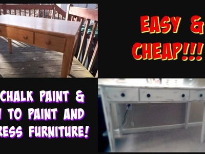 DIY Chalk Paint & How to Paint and Distress Furniture! | Life With Lo