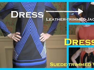 DIY Dress into VEST or JACKET Using SUEDE or LEATHER Trim