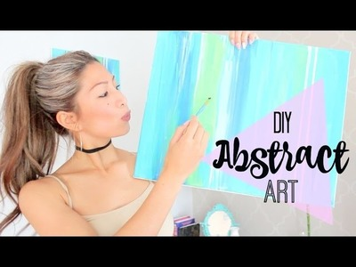 DIY Easy Abstract Art Painting - for BEGINNERS!