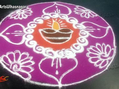 DIY Easy Diya Rangoli Design   Sand Art   JK Arts 952
