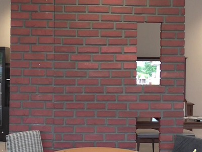 Diy fake brick wall by recycled material ,mdf,