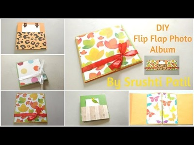 DIY Flip flap Mini Photo Album Tutorial | By Srushti Patil | Card Ideas