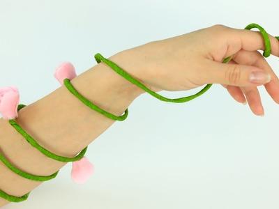 DIY Flower Arm Bracelet