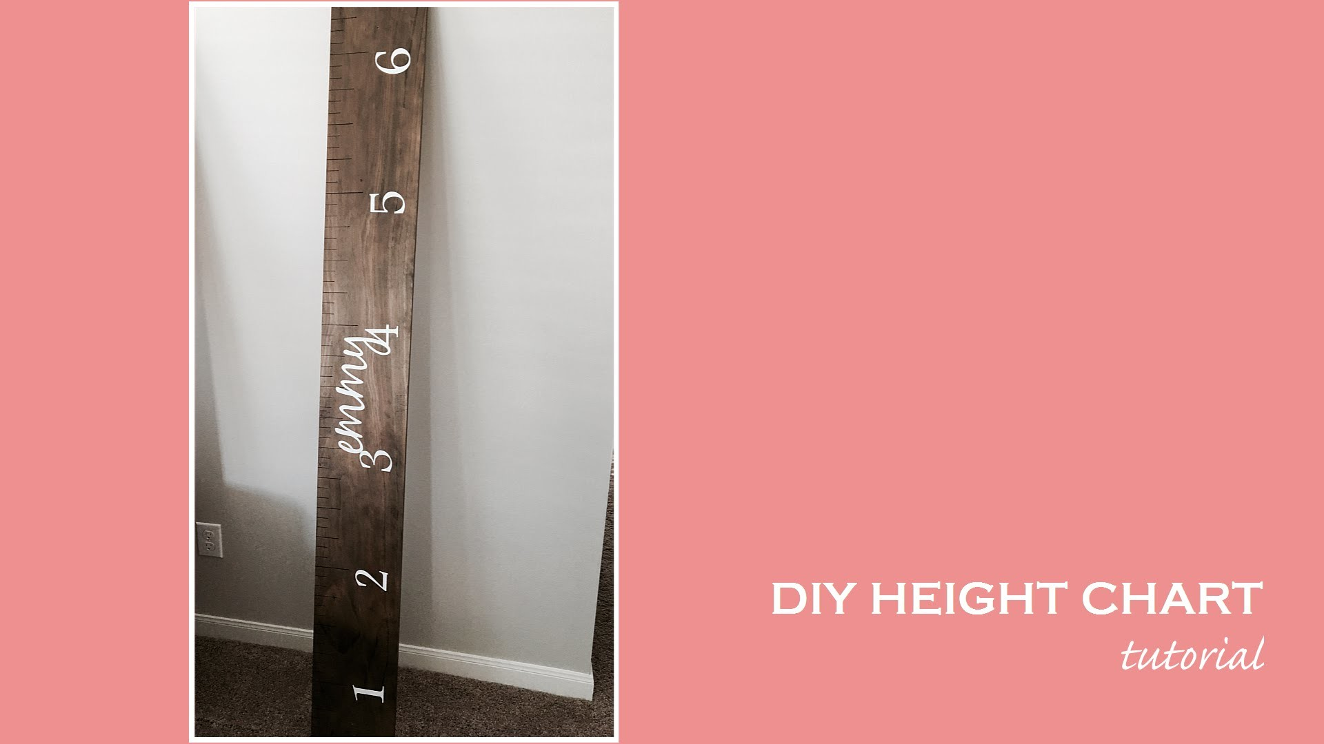 DIY Height Chart Tutorial
