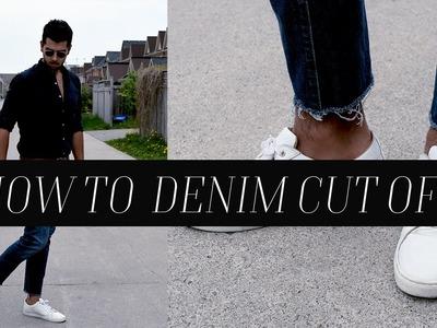 DIY:  How To Denim Cut Off