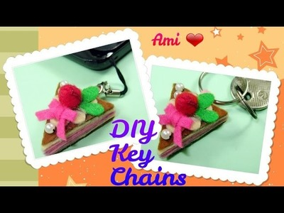 DIY- How to make a Cute Cake Keychain Phonechain
