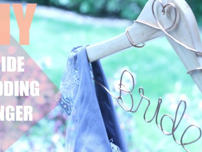 DIY.How To Make A Personalized Wedding Hanger