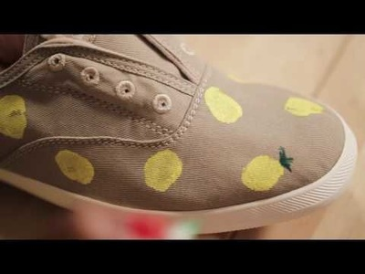 DIY: How to Make Pineapple Prints for Shoes