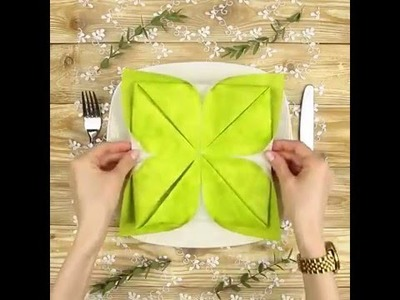 DIY Lotus napkin fold | Fancy something special for your table decoration | 5 Minute Crafts
