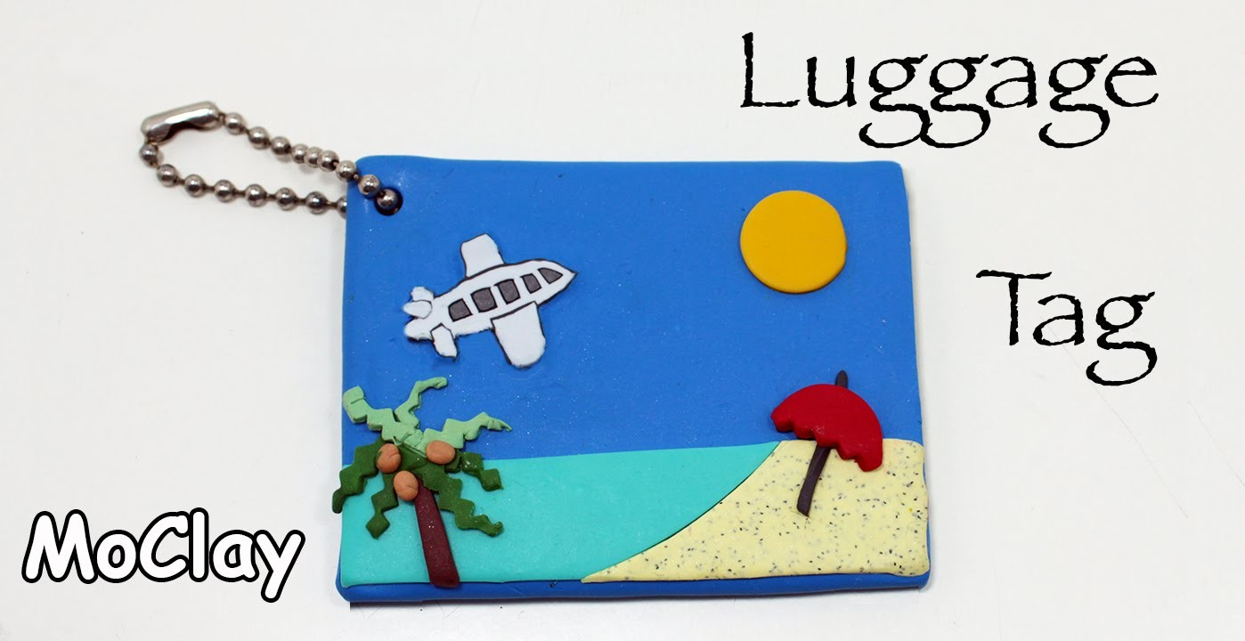 Diy Luggage tag. Polymer clay tutorial
