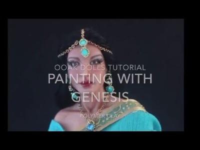 DIY- Painting with Genesis - Polymer Clay Ooak Dolls Tutorial