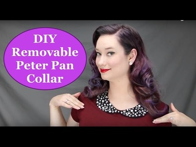 DIY Peter Pan Collar Rhinestones Removable The Rachel Dixon Tutorial How To