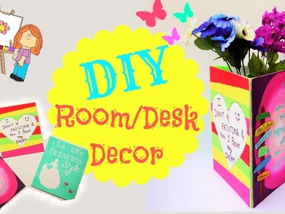 DIY: Room and Desk decor (using canvas paintings)
