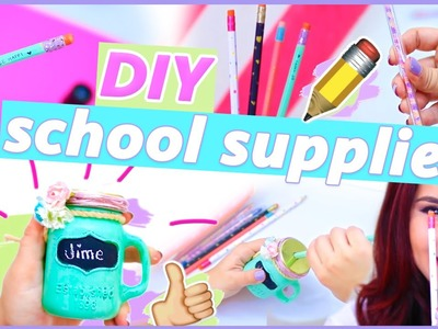 DIY SCHOOL SUPPLIES: Mason jar sharpener + pencils + pens ♥ Jime