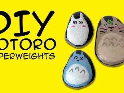 DIY Totoro Paperweights Painted Rocks: Crafty McFangirl Tutorial