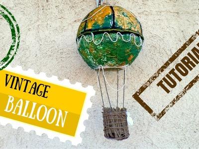 DIY Vintage Hot Air Balloon Decoration  Wedding Guest Book Idea   by Fluffy Hedgehog