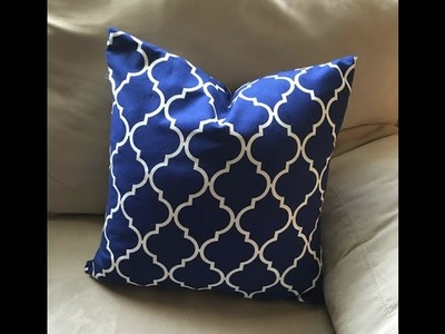 EASY DIY Changeable Square Throw Pillow Cover