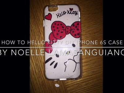 How to DIY Hello Kitty iPhone 6s case