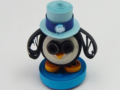 How to make a 3D quilling penguin quilling animal  DIY (tutorial + free pattern)