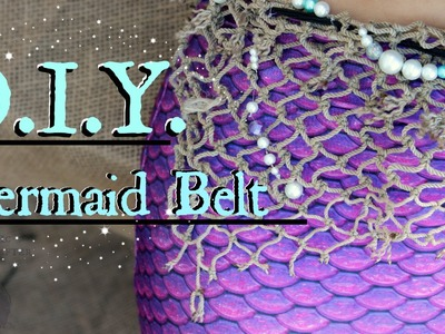 How to make a Belt out of Fish Netting | DIY Mermaid Accessory for #Mermaiding & Swimming