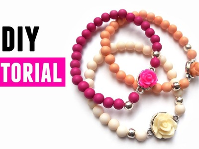 How To Make A Bracelet With Roses - DIY Jewelry making