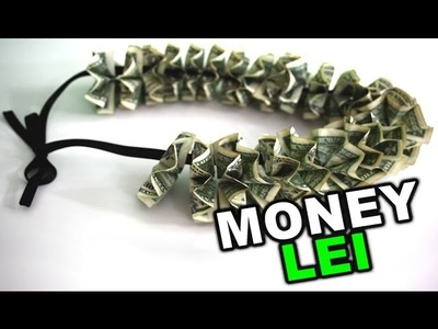 How to make a money lei for graduation gift, DIY tutorial