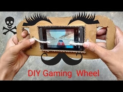 How to make DIY Gaming Wheel for Smartphone.Tablet!!!Good Driving Experience!!!!:)
