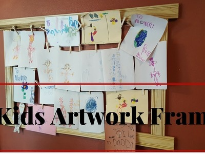Kids Artwork Frame Wall Decoration Poplar DIY