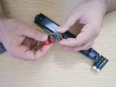 Make Taser from Bug zapper (Easy DIY)