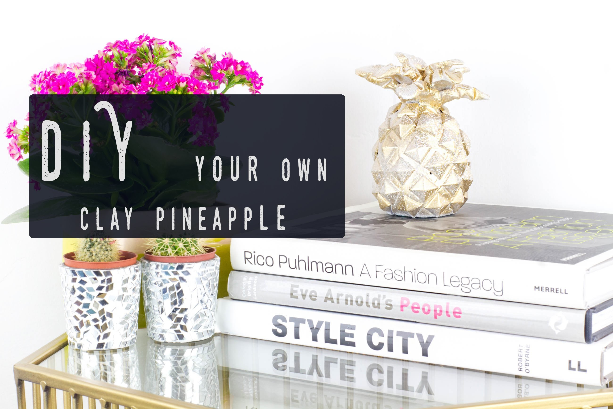 Make your own pineapple ornament   DIY Home Decor