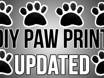 [UPDATED 2016] DIY PAW PRINT | How to Make an EASY FREE PAW PRINT STAMP