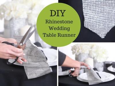 Wedding Decoration Ideas A Rhinestone Table Runner An Easy DIY Wedding Tutorial