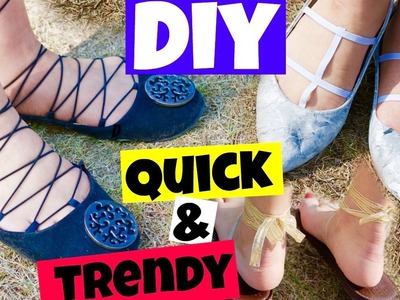 CREATIVE DIY QUICK & EASY & TRENDY.LACE UP SHOES. CAGED SHOES. SLIPPER HACKS