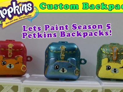Custom Season 5 Shopkins Petkins Backpacks! DIY Painted Backpacks Craft Project