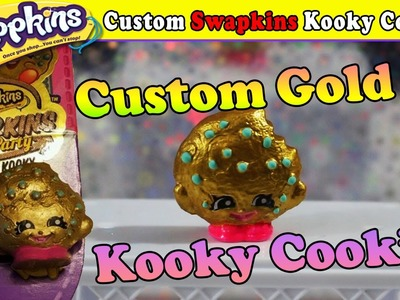 Custom Swapkins Gold Kooky Cookie Shopkins! DIY Exclusive Repainted Season 5 - Toys R Us | Shopking