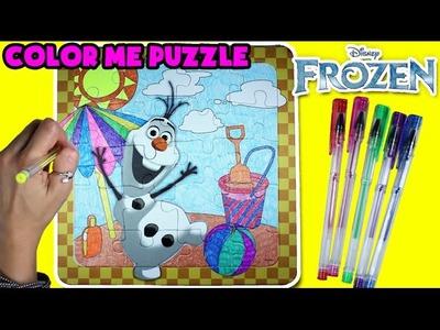 ★Disney Frozen Olaf Color Wonder Puzzle★ DIY Color Your Puzzle, Frozen Olaf Arts & Crafts Video