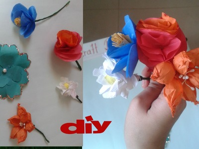 Diy 5 Types Of Tissue Paper Flowers (Easy to make)