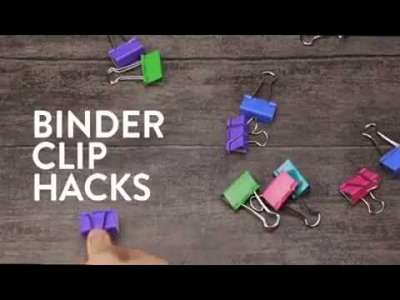 DIY Binder clip Miracles hack your life | 5 minute crafts | Crafty